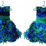 Bluegreen Dress (front & back)