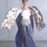 Costume made of Recycled Paper, Wrapping Plastic & Sisal