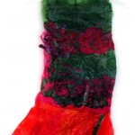 Red Green Dress made of Recycled Plastic Bags (Original Sold)