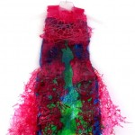 Fused Dress Magenta made of Recycled Plastic Bags  (Original Sold)