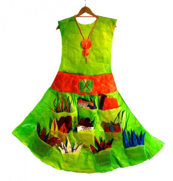 Green-Dress-What is your Story (front)