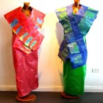 Costumes for Shop Window made of Recycled Plastic Bags