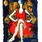 Woman in Red (Original Sold)